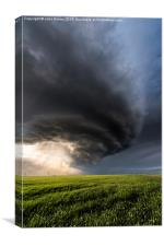 Structure over the great plains of Colorado, USA., Canvas Print