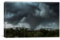 Large Tornado, Canadian, Texas, USA, Canvas Print