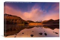 English Lake District winter sunrise. , Canvas Print