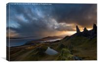Old Man of Storr in Squally conditions, Isle of Sk, Canvas Print