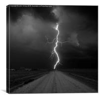 Kanorado Lightning, Kansas. Extreme weather, USA , Canvas Print