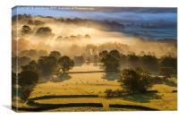Edale valley sunrise, Peak District, Derbyshire, E, Canvas Print