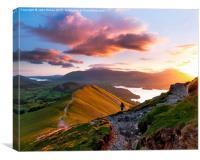 Catbells sunrise, Lake District., Canvas Print