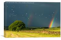 Monyash rainbow, Derbyshire., Canvas Print