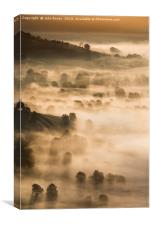 Late Summer sunrise. Hope valley, Peak District., Canvas Print