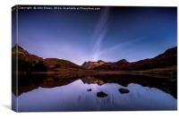 Blea Tarn star trails, Lake District, Canvas Print