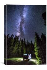 Milkyway over Mt Evans, Colorado., Canvas Print