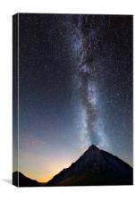 Milky Way over Buachaille Etive Mòr , Canvas Print