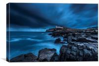 Neist Point Storm, Scotland., Canvas Print