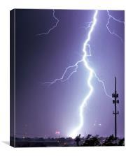 Amarillo gunshot lightning, Texas., Canvas Print