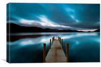 Derwent water dawn , Canvas Print