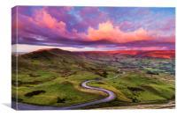 Edale road, Peak District. , Canvas Print