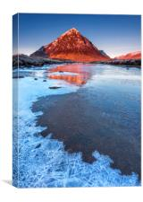 River Etive and The Buachaille , Canvas Print