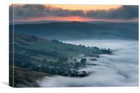 Winhill sunrise , Canvas Print