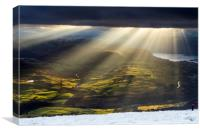 Blencathra light, Canvas Print