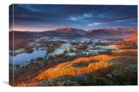 Great Langdale in Red , Canvas Print