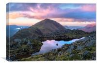Haystacks sunset. Lake District. , Canvas Print