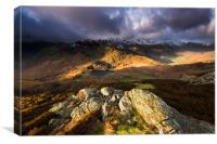 Little Langdales hanging valley , Canvas Print