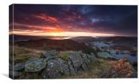 Loughrigg sunrise , Canvas Print