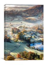 Frosty Autumn morning in the Lake District, Canvas Print