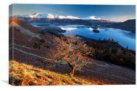 Sunrise over the Northern Fells. Lake District. , Canvas Print