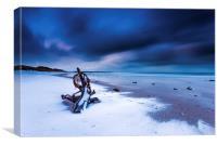 Embleton beach, Northumberland, Canvas Print