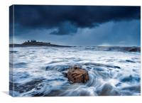 Wild Dunstanburgh, Northumberland , Canvas Print