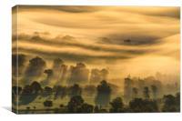 Whirlpool of fog , Canvas Print