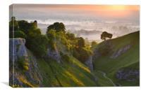 Cave Dale sunrise, Canvas Print