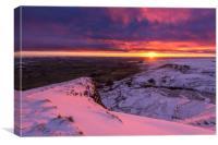 Peak District Winter sunrise, Canvas Print