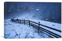 Blizzard in the High Peak, Canvas Print
