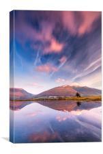 Tewet Tarn Winter sunrise, Lake District, Canvas Print