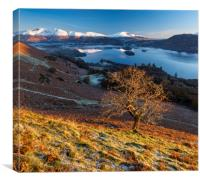 Keswick Autumn sunrise, Lake District., Canvas Print