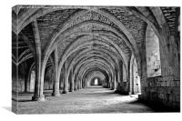 Fountains Abbey, Canvas Print
