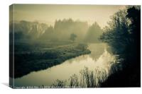 Spring morning in Ringland, Canvas Print
