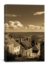Gold Hill,Shaftesbury, Canvas Print