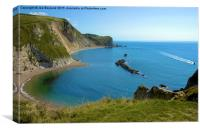 Romance on the Jurassic Coast, Canvas Print