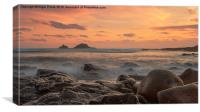 Sunset at Cape Cornwall, Canvas Print