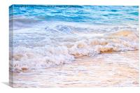 Waves breaking on tropical shore, Canvas Print