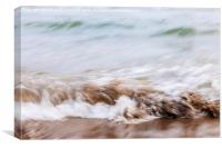 Water and sand abstract 3, Canvas Print