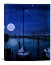 Night at the Marina, Canvas Print