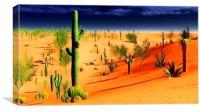 American desert, Canvas Print