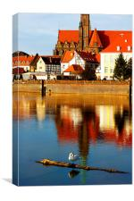 Monument in Wroclaw, Poland, Canvas Print