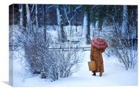Wintery walk, Canvas Print