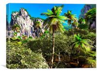 Tropical paradise, Canvas Print