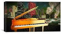 Piano as a symbol of defiance, Canvas Print