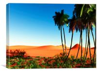 African oasis, Canvas Print