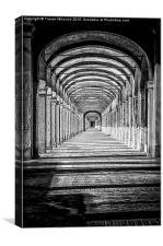 Colonnato dei Cappuccini, Canvas Print
