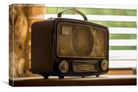 Vintage Radio, Canvas Print