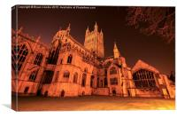 Gloucester Cathedral by Night, Canvas Print